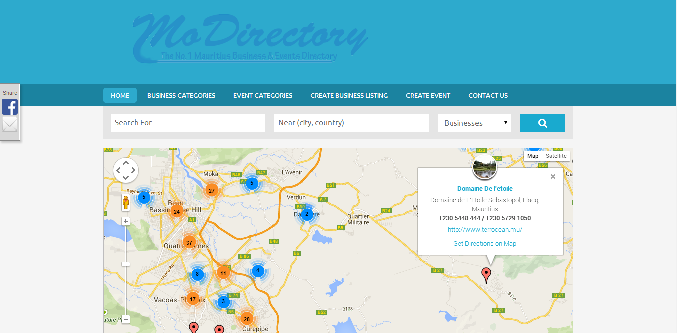 Business & Events Directory