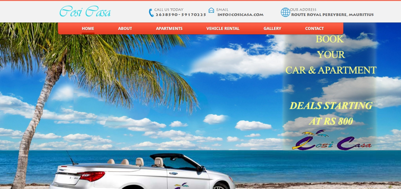 Apartments & Vehicle Rental Website Design & Development