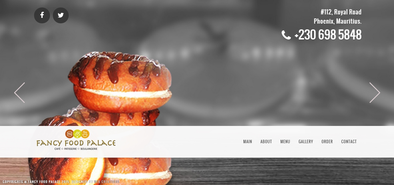 Fancy Food Palace Website Design & Digital Marketing