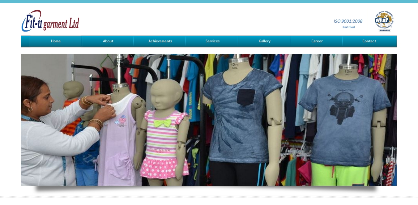 Textile Factory website development
