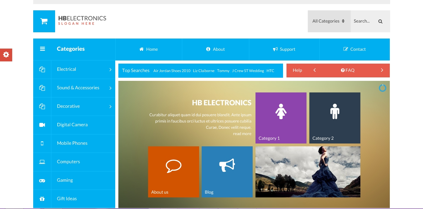 Hb Electronics Website Design