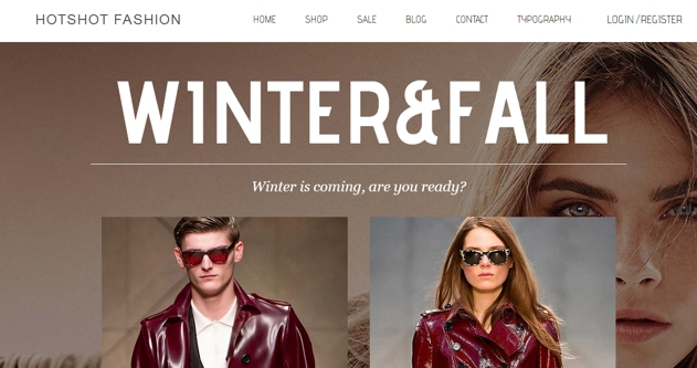 Hotshot Fashion web design