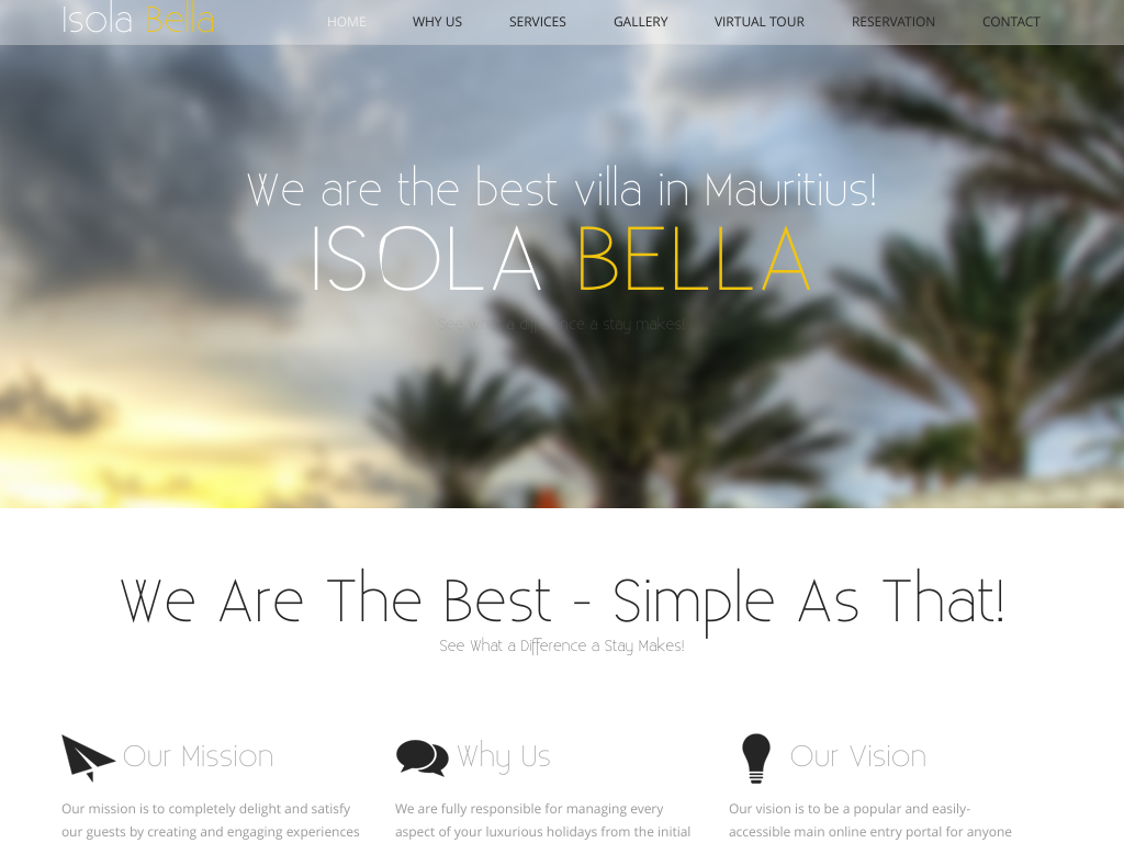 Tour Operator One Page Web Design and Development