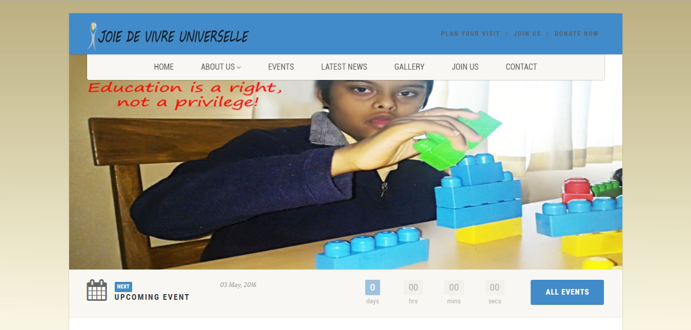 Joie De Vivre Universelle Website Design & Development